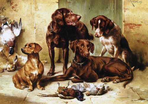 Hunting Dogs With Prey Animal Paintings Dog Art Animal Painter