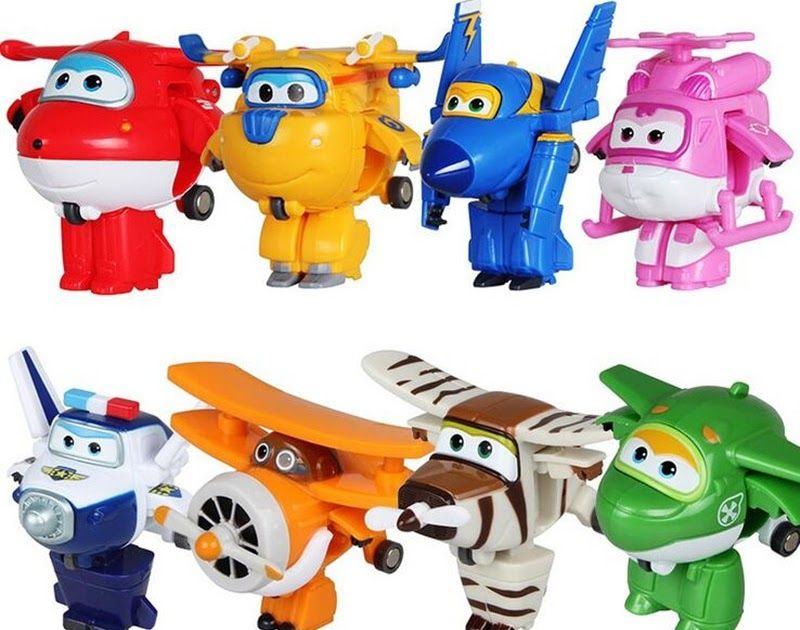Super Wings Robot Playset Animation Character Toy Kids TV Animation Gift