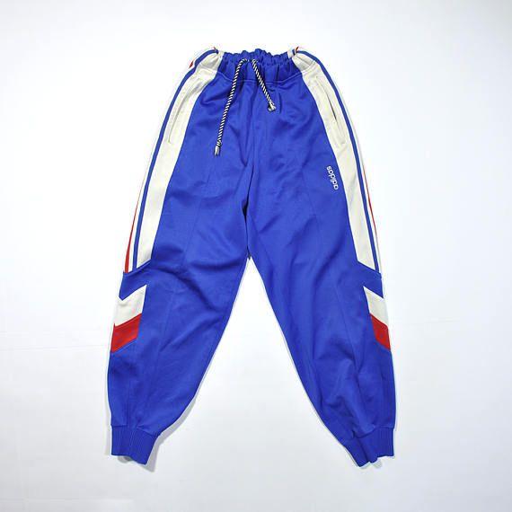 716b7b73407c5a Vintage ADIDAS Trackpants   90s ADIDAS TREFOIL Triple Stripe Sweatpants    Size Large   Track Pants   Retro Streetwear   France Flag Color