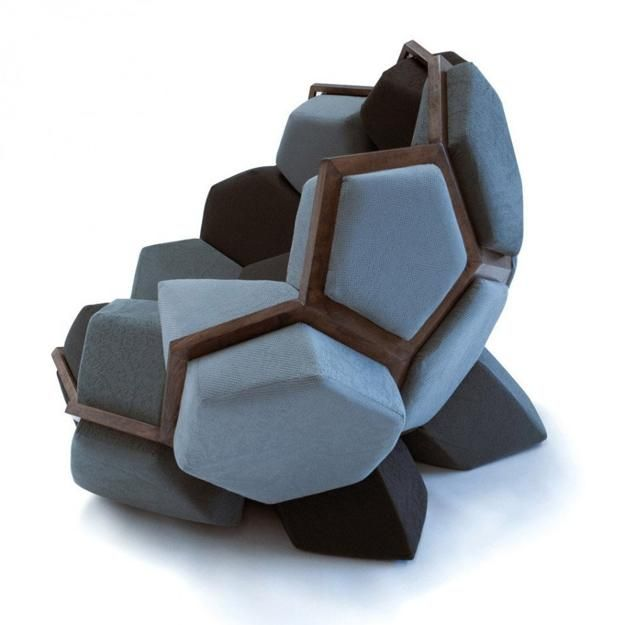 Modern Furniture Chairs modular furniture cushions in prism shapes creating modern chairs