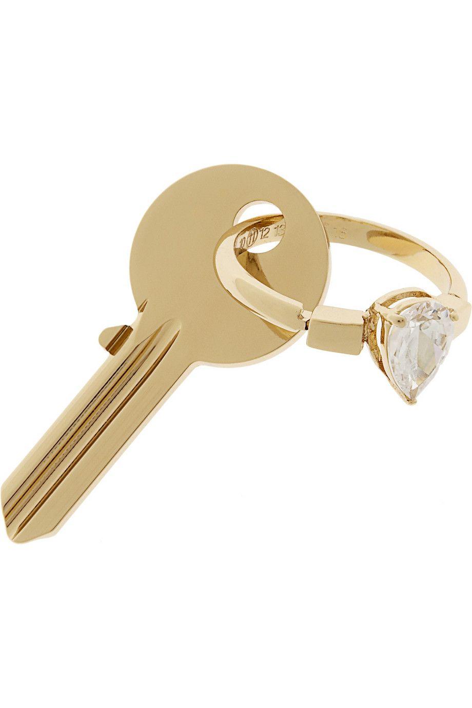 Maison Martin Margiela gold keyring LMdRWbp1