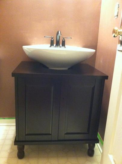 SinkWrap 25 in. W x 20 in. D Vanity CabiOnly for Pedestal
