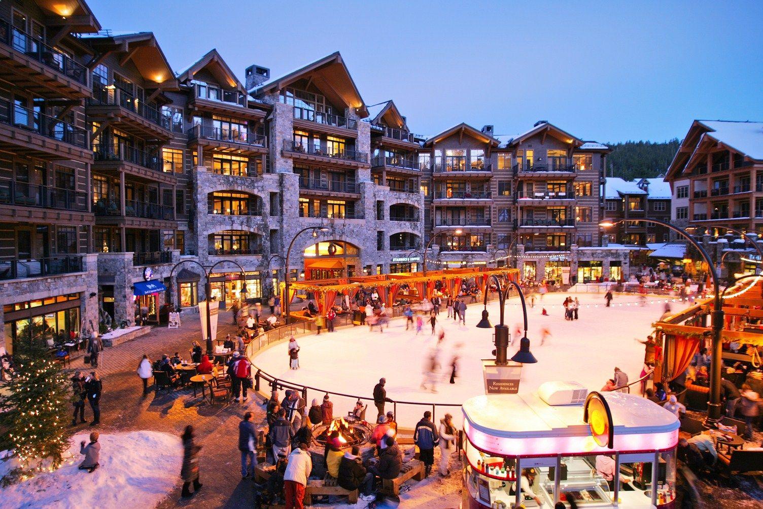 lake tahoe north star ski resort ice skating rink. | other | skiing