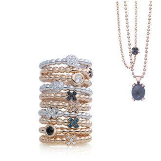 Bron sieraden en ringen in goud