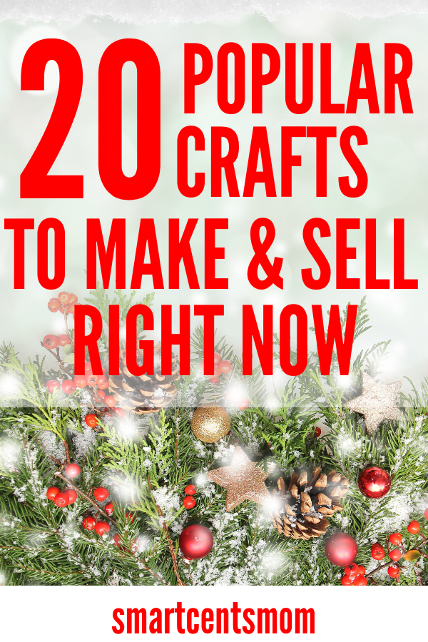 Check out these easy diy crafts to make and sell during the holidays: Thanksgiving & Christmas. Sell these cheap crafts at craft fairs or on Etsy. Such a fun way to make extra money selling crafts. #christmascraftstosell
