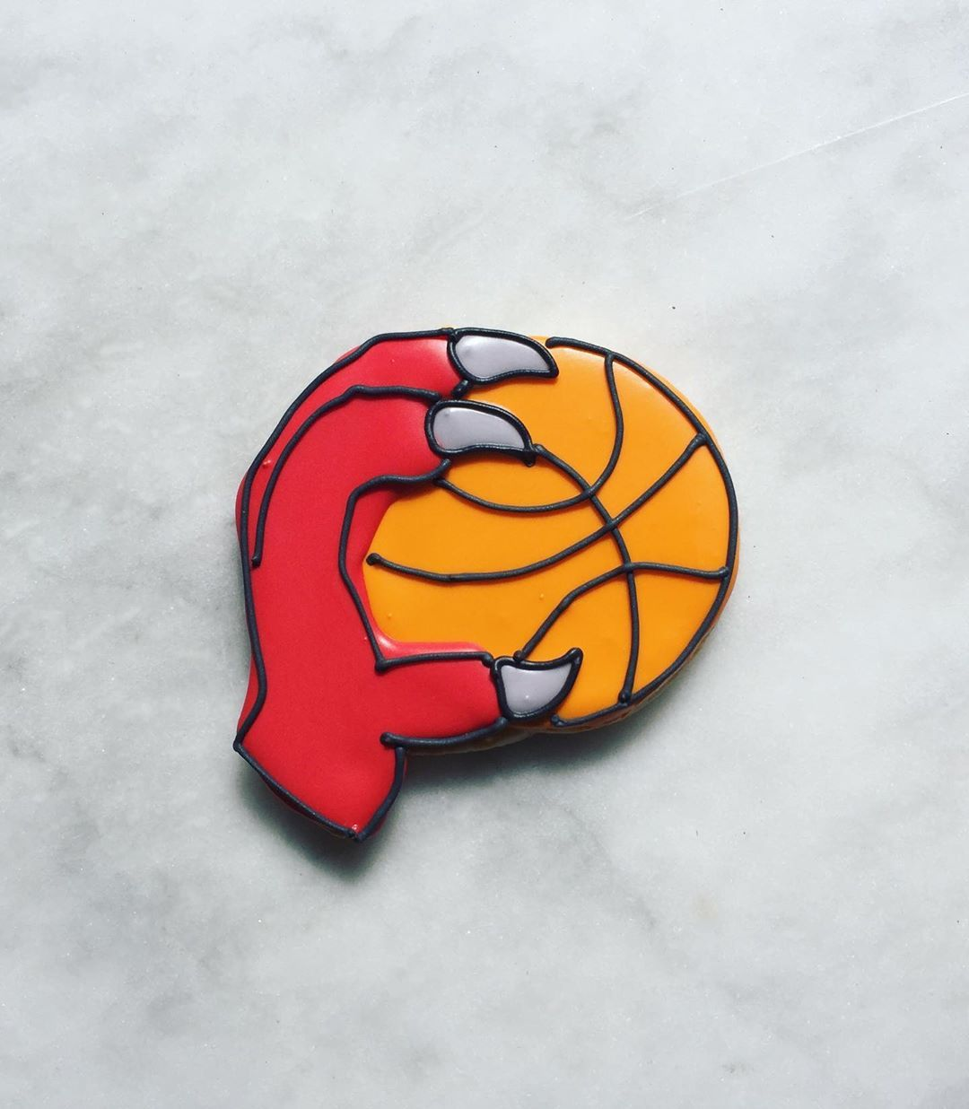 Cheering them on in cookie form! cookie art, NBA