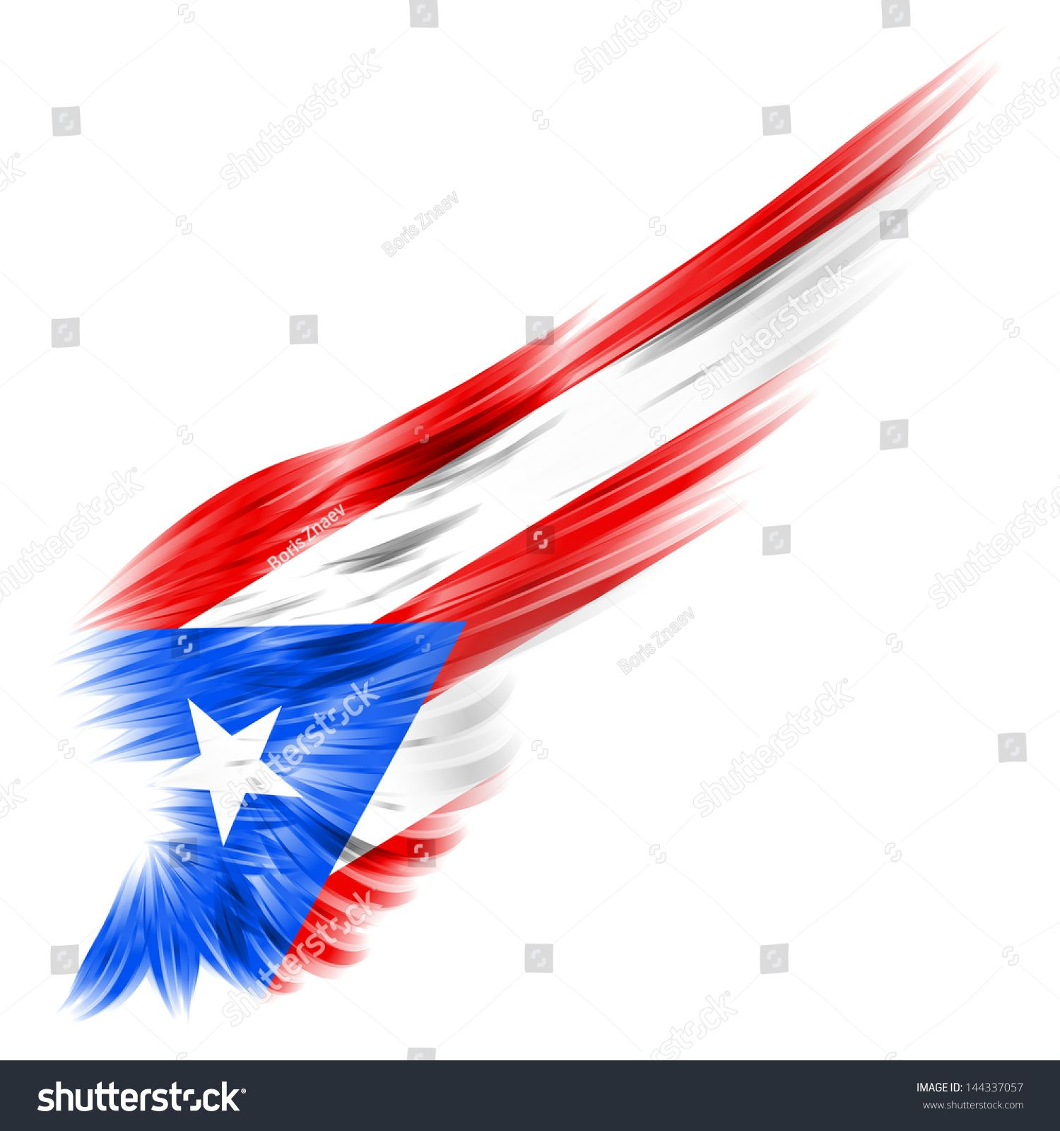 Puerto Rico Flag Abstract Flag Puerto Rico On Abstract Wing Stock Illustration Puerto Rico Tattoo Puerto Rico Art Puerto Rico Flag