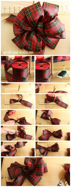 how to make perfect bows every time its all about the twist from http - How To Make A Big Christmas Bow