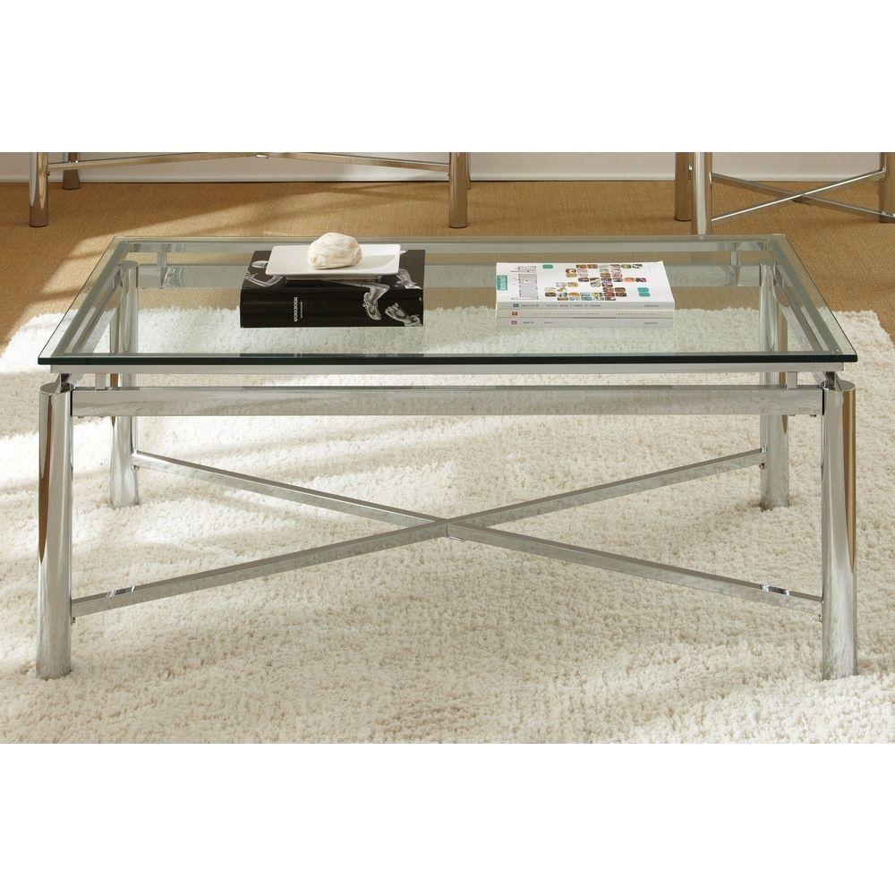 Greyson Living Natal Chrome and Glass Coffee Table   House decor ...