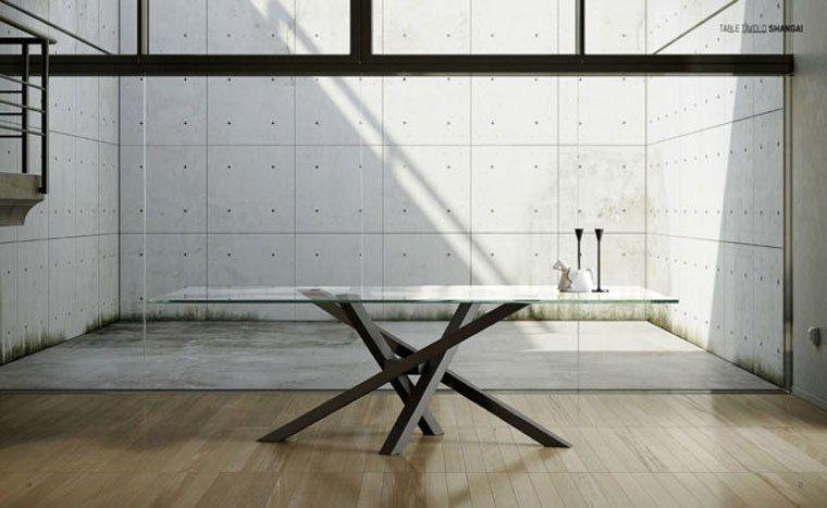 Riflessi tavolo Shangai - Particolare piano in cristallo | Dining ...