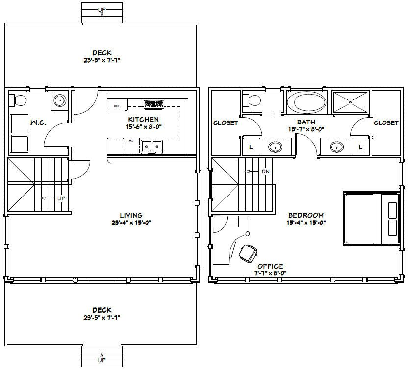 24x24 house 24x24h10a 1 066 sq ft excellent floor 24x24 floor plans