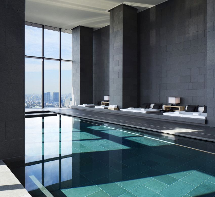 Aman tokyo swimming pool asia pinterest schwimmb der for Asia wohnen