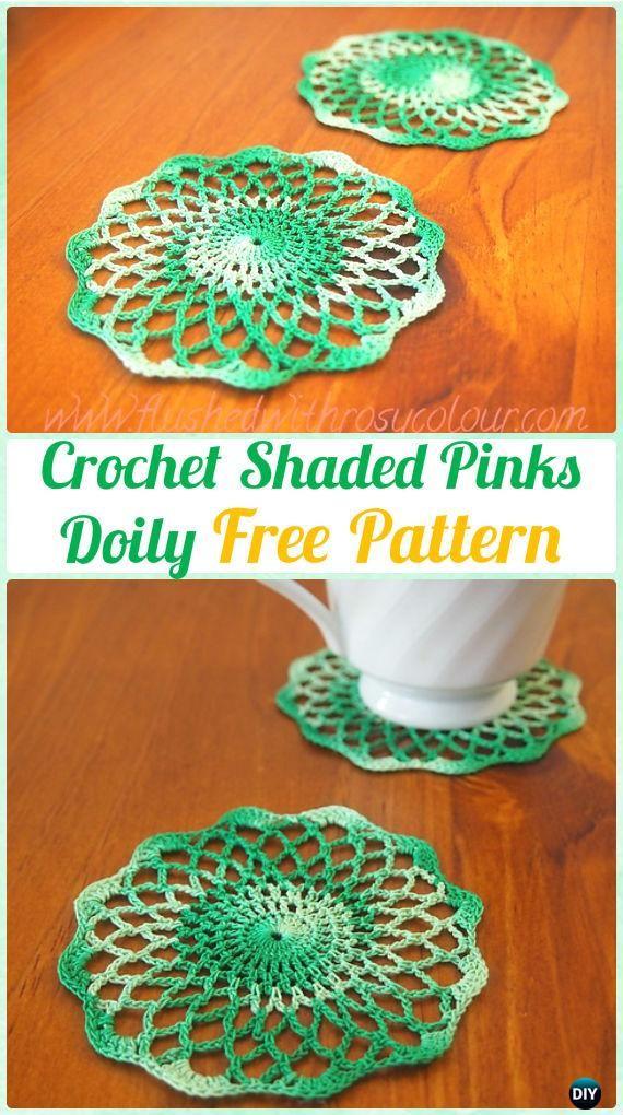 Crochet Shaded Pinks Doily Free Pattern Crochet Doily Free