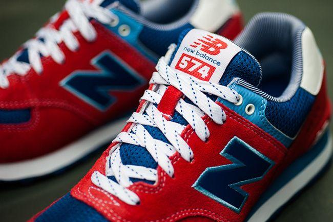 "New Balance 574 ""Yacht Club"" | Red & Blue"