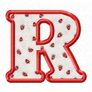 "Letter R - Subway 3"" Applique Alphabet 