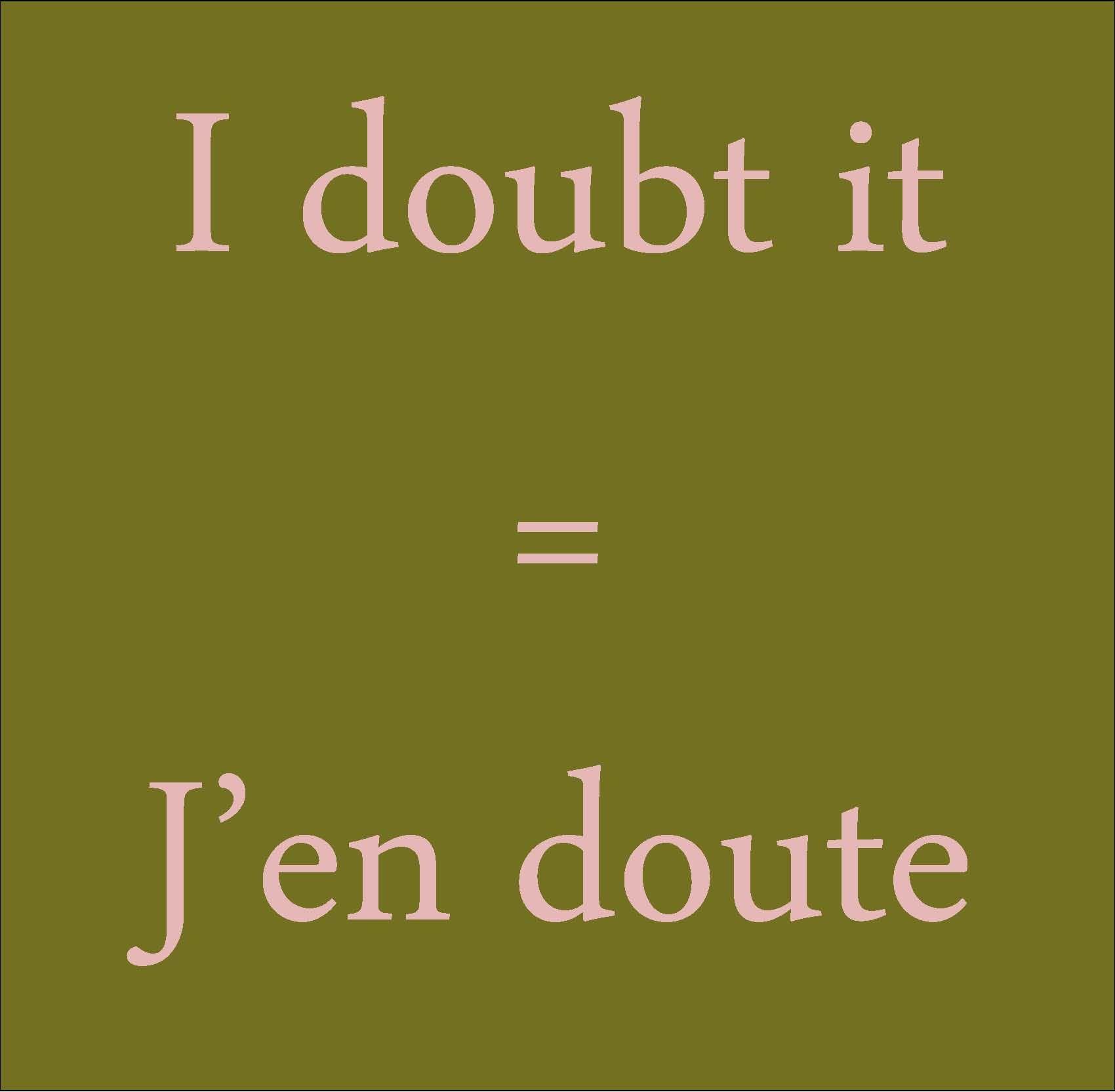 doubt englisch
