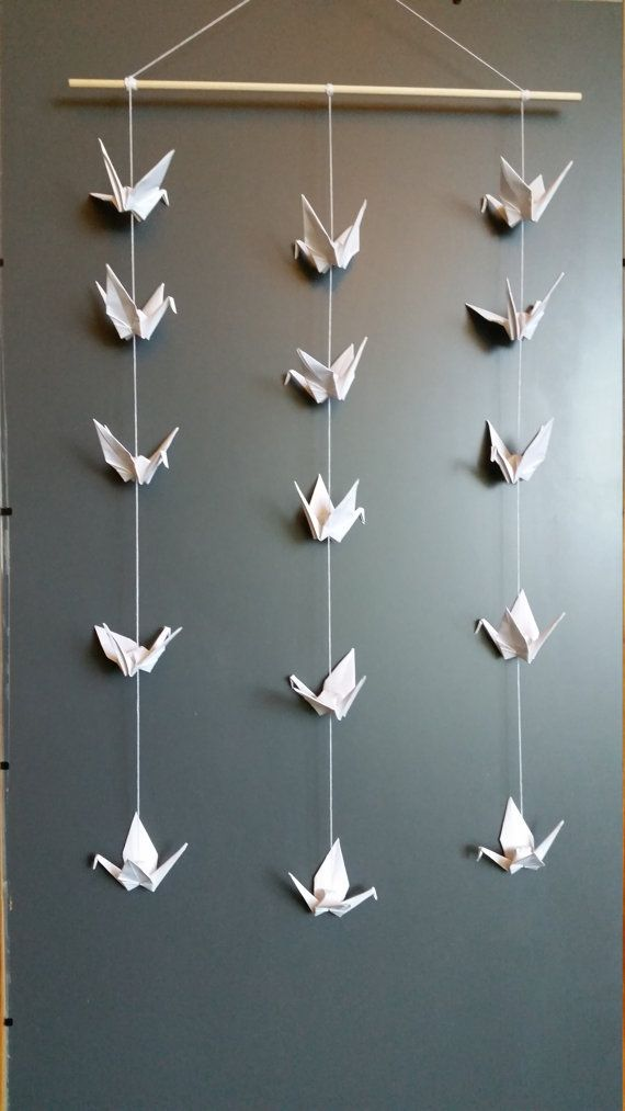 Handmade Origami Crane Mobile Wall Hanging Decoration