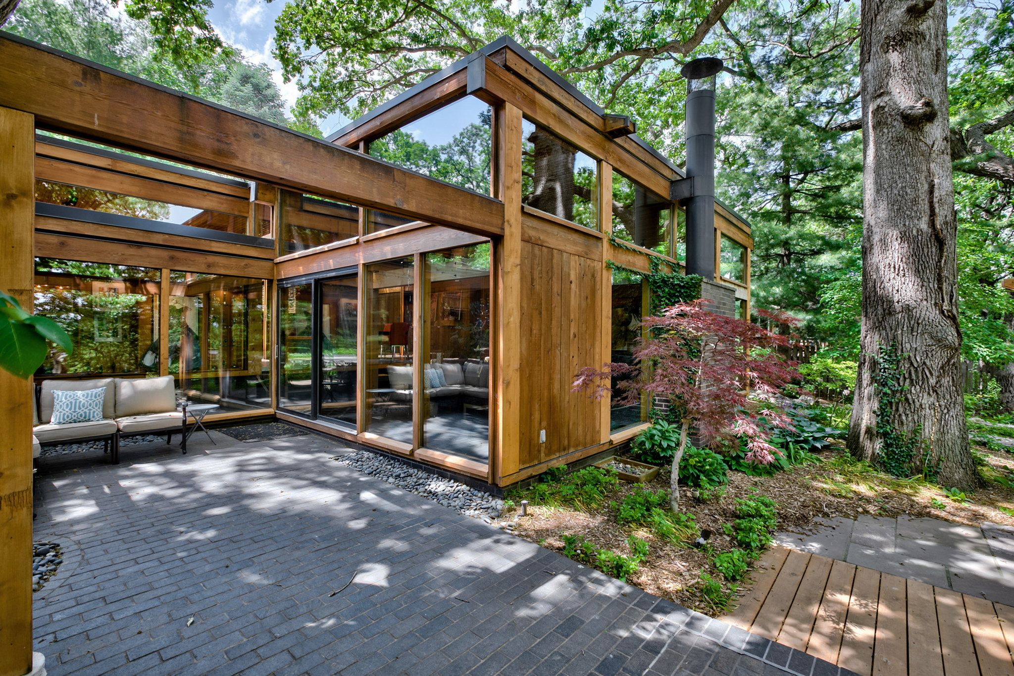 Modern Stone Cottage a 1705 stone cottage in new hope, pa.; a cedar house in omaha; and