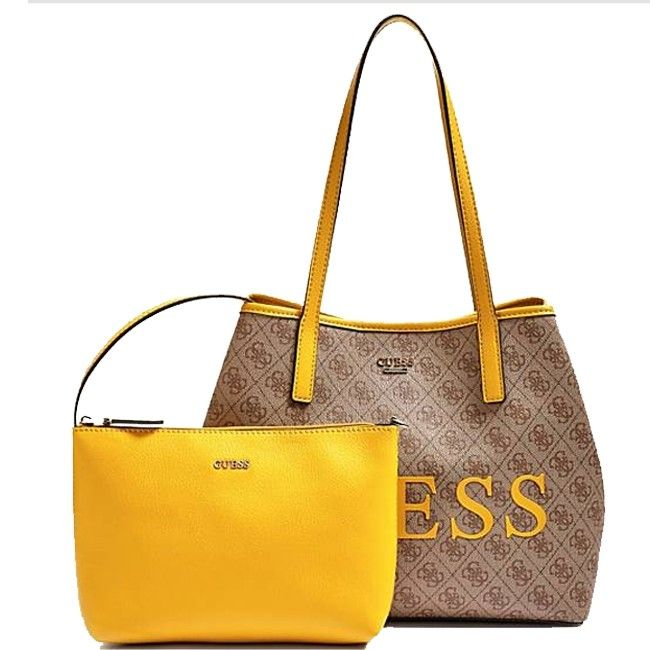 Guess Vikky Sac Shopping Et Pochette 2 En 1 Bwm Sac Shopping Sac Guess Sac
