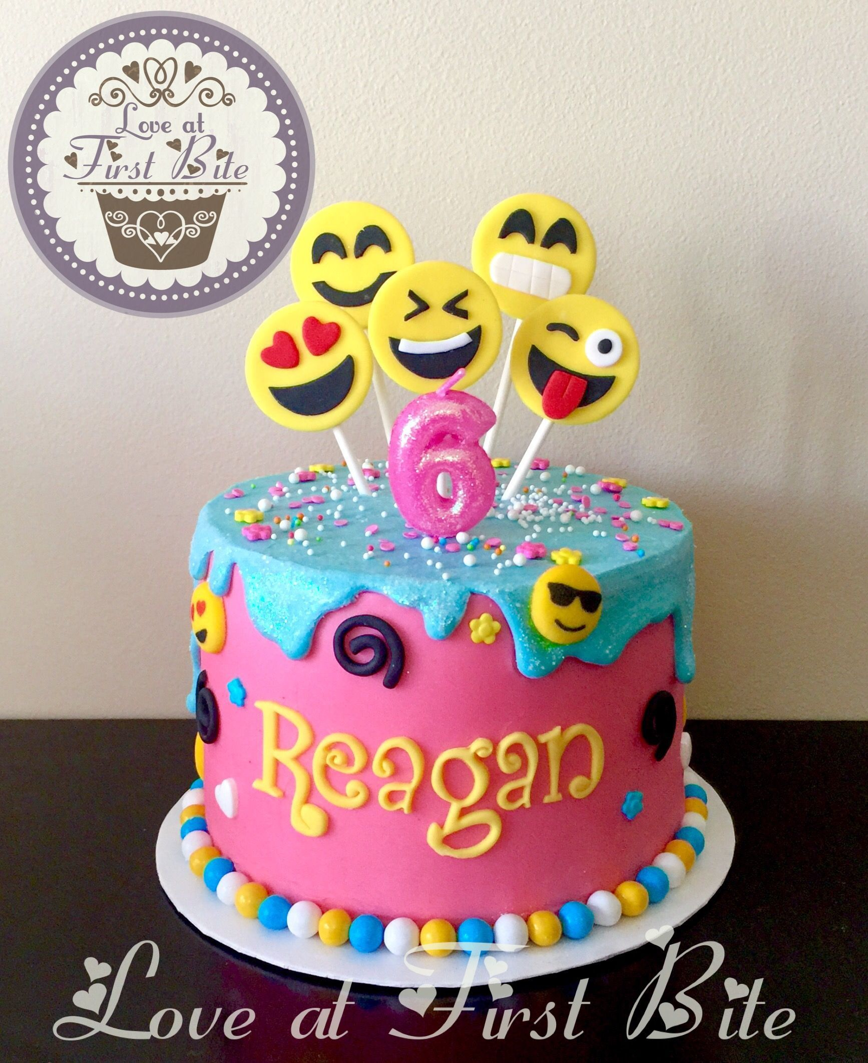 Emoji Cake Torta 8th Birthday 10th Parties