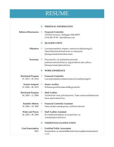 51 Creative Resume Templates Hloom Com Resume Templates Resume Good Resume Examples