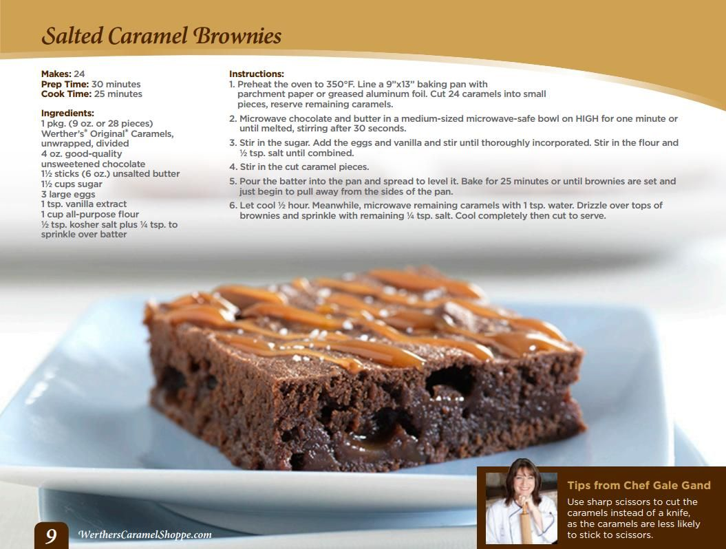 Salted Caramel Brownies With Images Salted Caramel Brownies