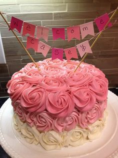 Image Result For Ombre Rose Cake