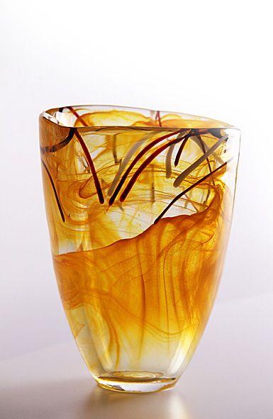 Kosta Boda Contrast Vase Orange Beautiful Things Pinterest