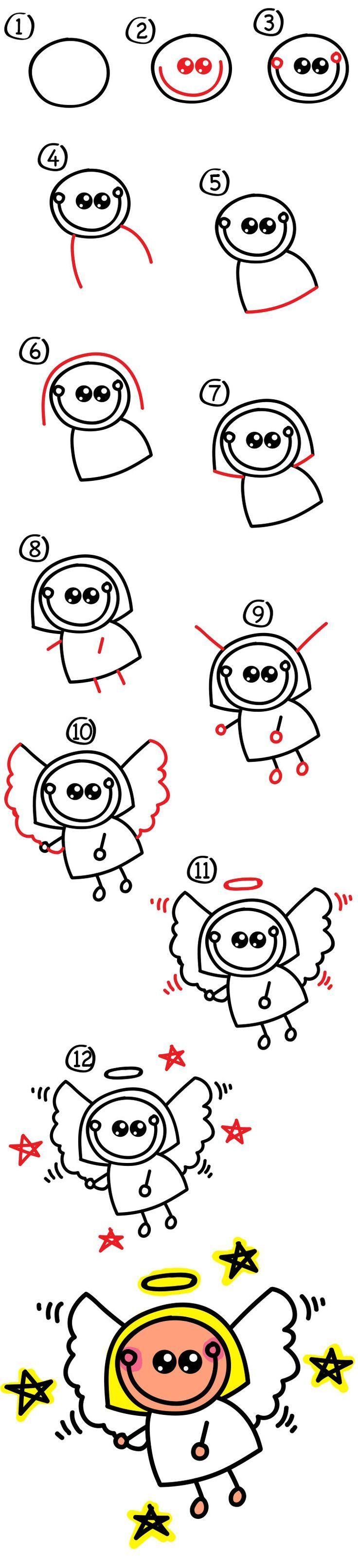 How To Draw An Angel Art For Kids Hub Art for kids