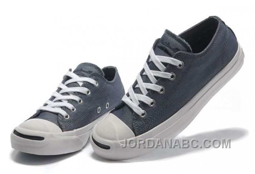 b9c6591a5183 Blue CONVERSE Jack Purcell Vintage Washed Canvas Shoes