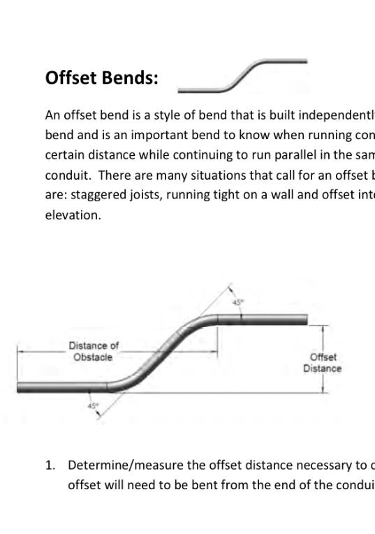 Conduit Bending Guide
