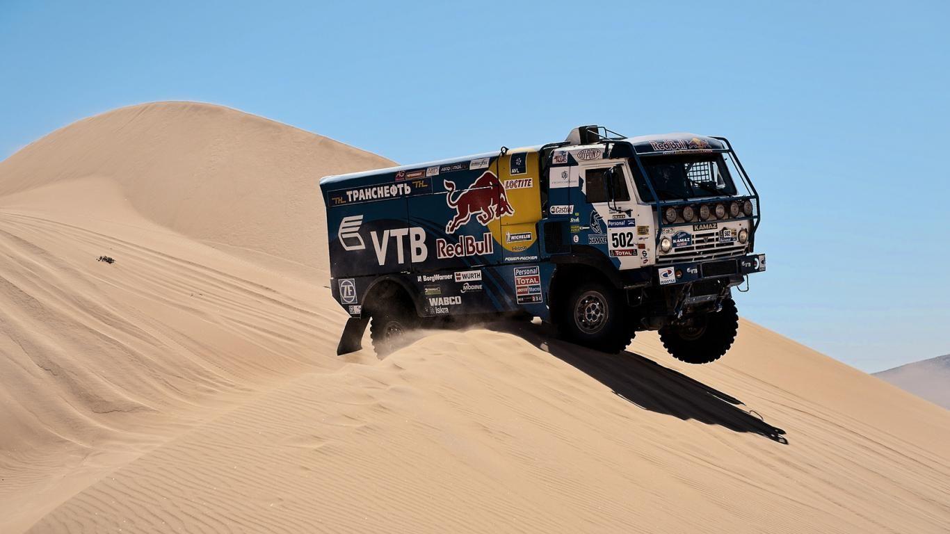 Paris Truck Kamaz Master The Desert Hi 1366x768 101097 Rally Dakar Trucks Rally Raid Rally