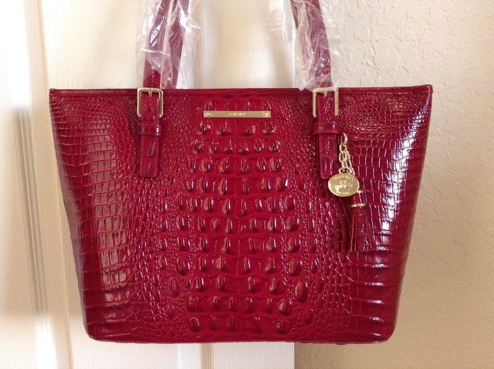 Brahmin Medium Asher Tote Carmine Red Croco Melbourne Leather L15151 Ebay Handbagsmelbourneconfidencetoteshandbagstote