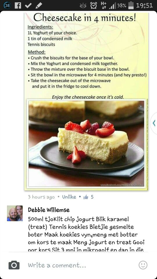 Microwave Cheesecake With Images African Dessert Food Microwave Recipes