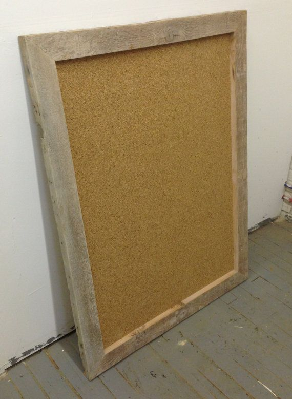 Large Cork Board Reclaimed Wood Frame By Decoratelier On Etsy 200 00