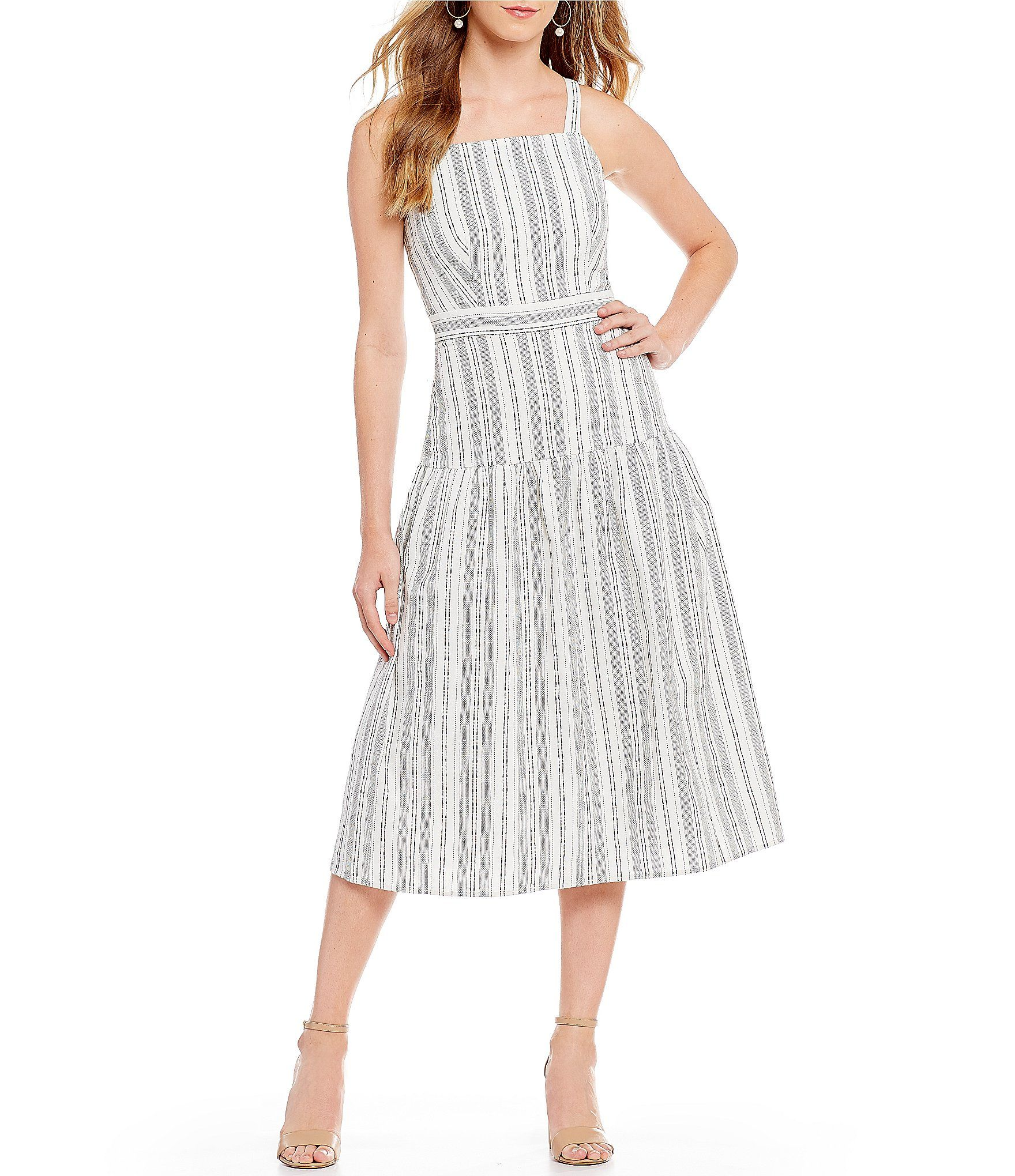 5e8d1b43d135 First Monday Stripe Midi Dress #Dillards | Fashion | Striped midi ...