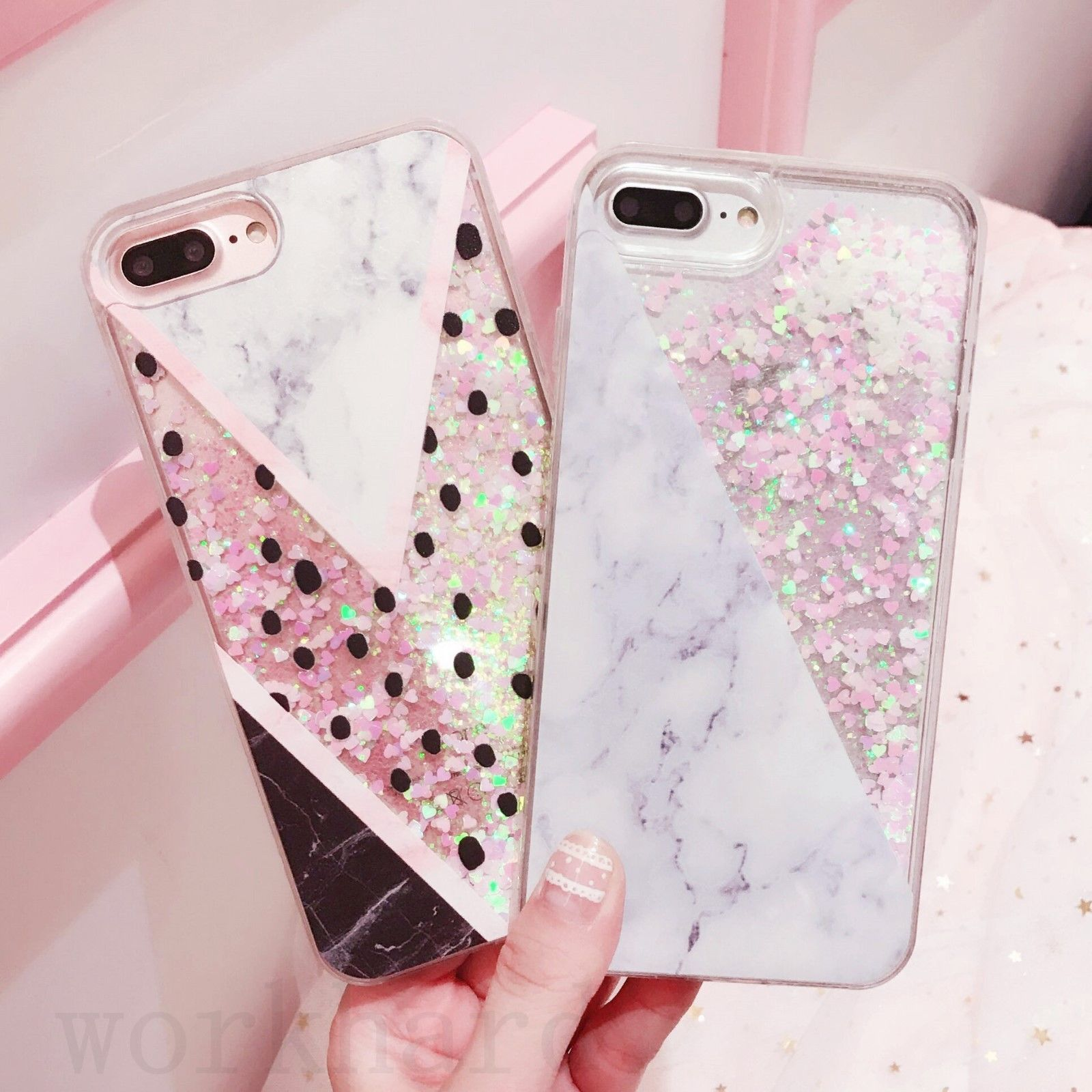 low priced ed609 f8546 Details about Granite Marble Bling Glitter Liquid Dynamic Case Cover ...
