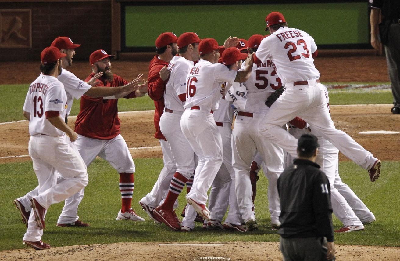 St. Louis Cardinals celebrate NLCS berth Stl cardinals