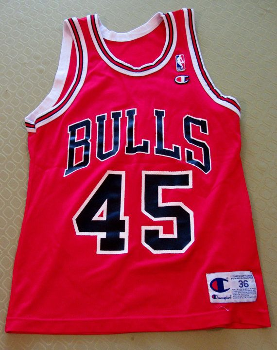 cheaper 42dfd 8e59a Vintage 90s Rare MICHAEL JORDAN Chicago Bulls Champion Brand ...