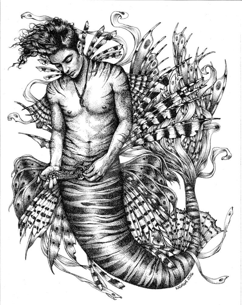Lionfish+Merman+-+What+dreams+may+come+by+LKBurke29.deviantart.com+ ...