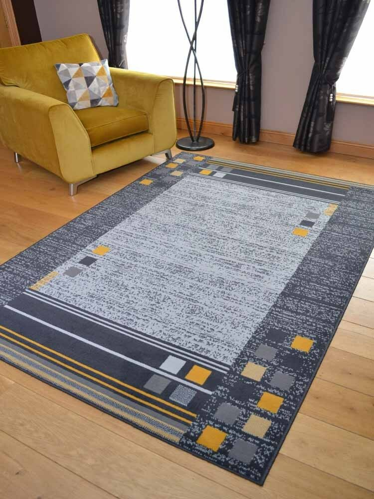 Ochre Mustard Gold Small Extra Large Big Grey Size Floor Carpets Rugs Mats Cheap Ebay Rugs On Carpet Lounge Rug Cheap Rugs