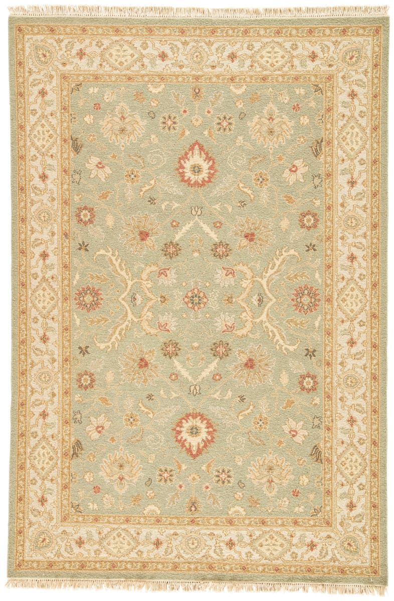 Jaipur Living Jaimak Kolos Sea Green Dark Ivory Area