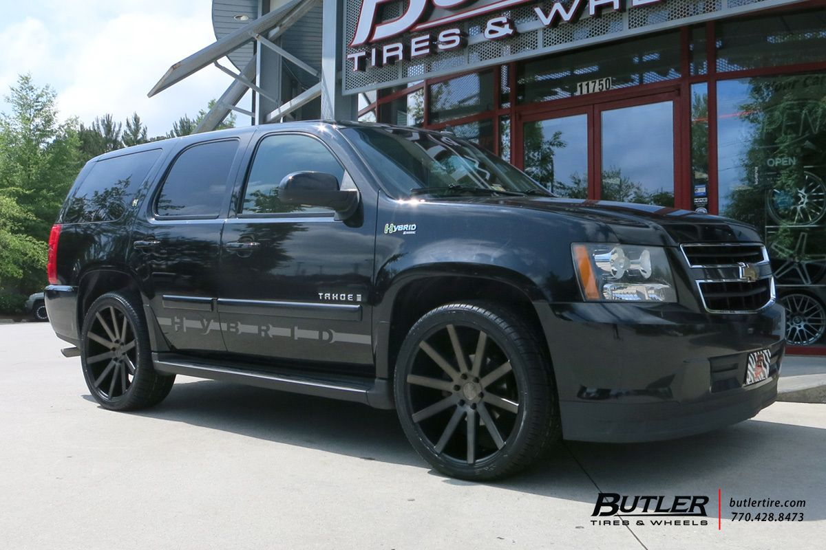chevrolet tahoe with 22in dub shot calla wheels butlertire chevy tahoe dubwheels wheels. Black Bedroom Furniture Sets. Home Design Ideas