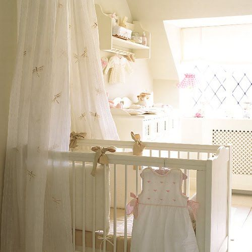 dragon fly and white for baby room