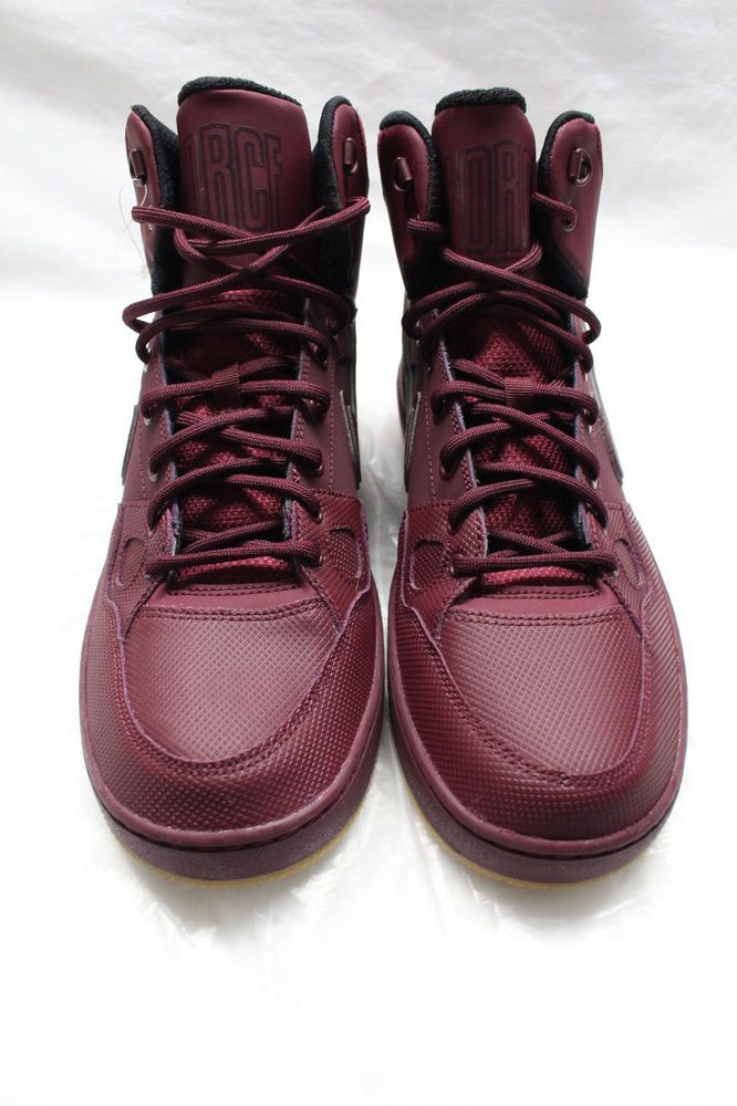 6e507997e0a NEW MEN S NIKE SON OF FORCE SIZE 12 MID WINTER 807242-600 BURGUNDY RARE  NWOT  NIKE  AthleticSneakers