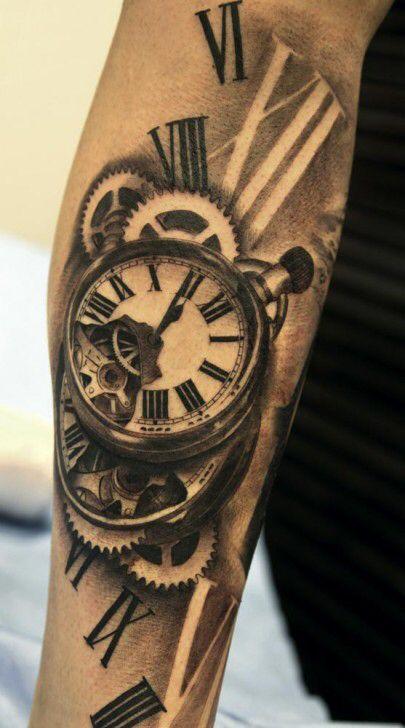 pin de augutos em tatuagens tatuagem relogio tattoo. Black Bedroom Furniture Sets. Home Design Ideas