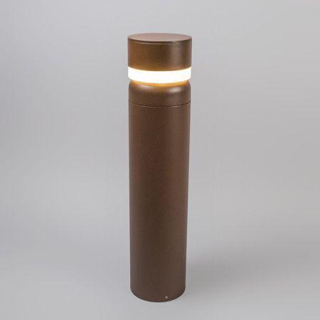 Außenleuchte Modern außenleuchte tempest pfahl 65cm led rostfarben außenbeleuchtung