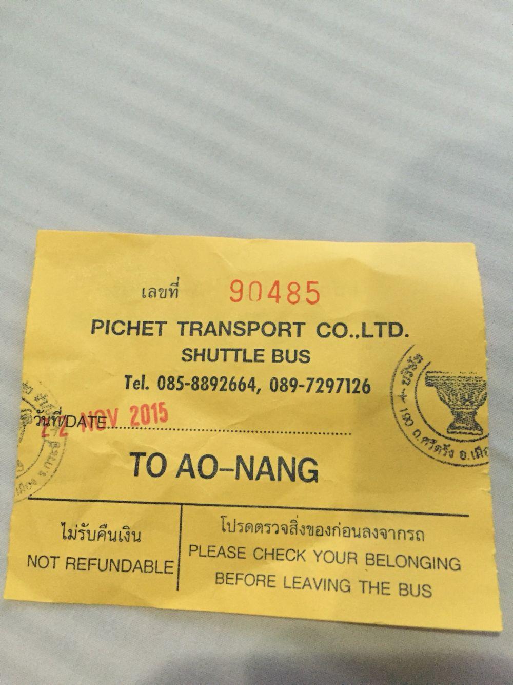 Shuttle Bus Ticket Bus Tickets Shuttling Bus