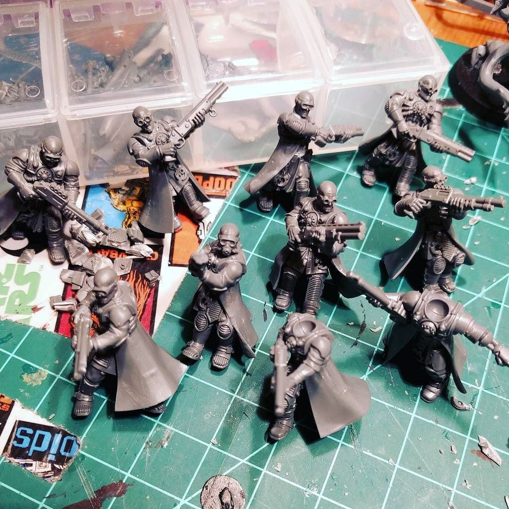 These GSC/Skitarii conversions make a good Delaque