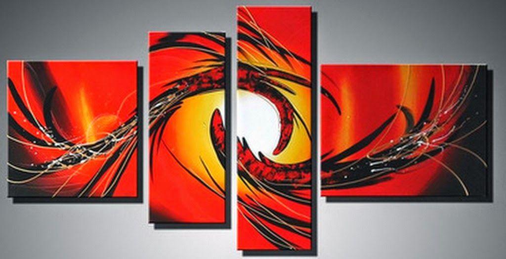 Cuadros minimalistas para sala 4 cuadros decorativos for Cuadros decorativos minimalistas